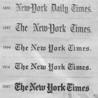 The Evolving NY Times Nameplate