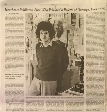 Obit in NY Times print editon [July 7, 2017]