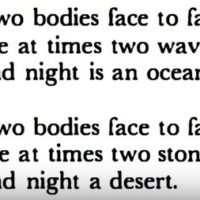 From a poem by Octavio Paz