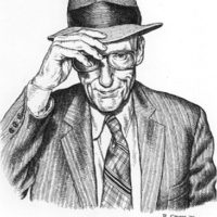 Portrait of William S. Burroughs © by R. Crumb [1985]
