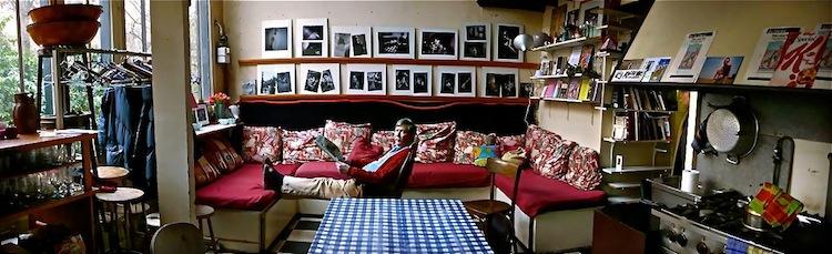 Jim Haynes at home.
