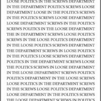 Loose Screws in Politics