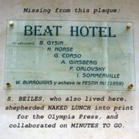 Beat Hotel plaque installed in 2009
