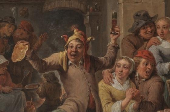 Card from Gerard Bellaart (by Dutch painter Jan Steen, 1626-1679)