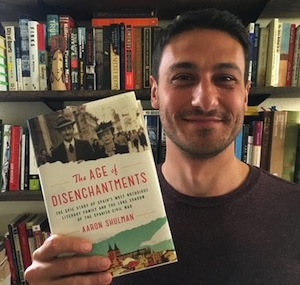 Aaron Shulman, proud author of 'The Age of Disenchantments'