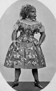 Only known photo of Julia Pastrana (in the public domain)