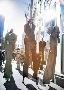 Intervention Wall Street, Laura Anderson Barbata, photo by Frank Veronsky