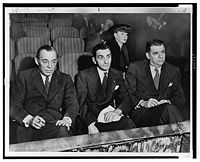 Irving Berlin, Rodgers and Hammerstein, and Helen Tamiris watching music theater auditions. (Photo: Library of Congress, public domain)