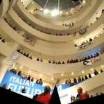 """Intervention"" At The Guggenheim To Protest Abu Dhabi Guggenheim Working Conditions"