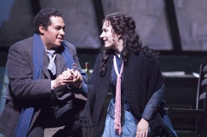 Gun-Brit Barkmin with Scott Piper in La Boheme
