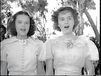 Judy Garland, Deanna Durbin in Every Sunday.jpg