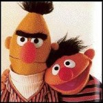 Bert (left) and Ernie