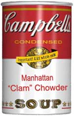 "Campbell's Manhattan ""Clam"" Chowder"