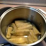Chowder cobs in pot