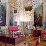 The music room at Sans Souci where JS Bach performed for the court of Frederick the Great