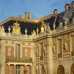 The gilded facade of Versailles.