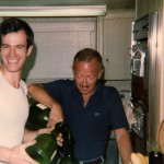 Pouring the wine  1977 on Fire Island.