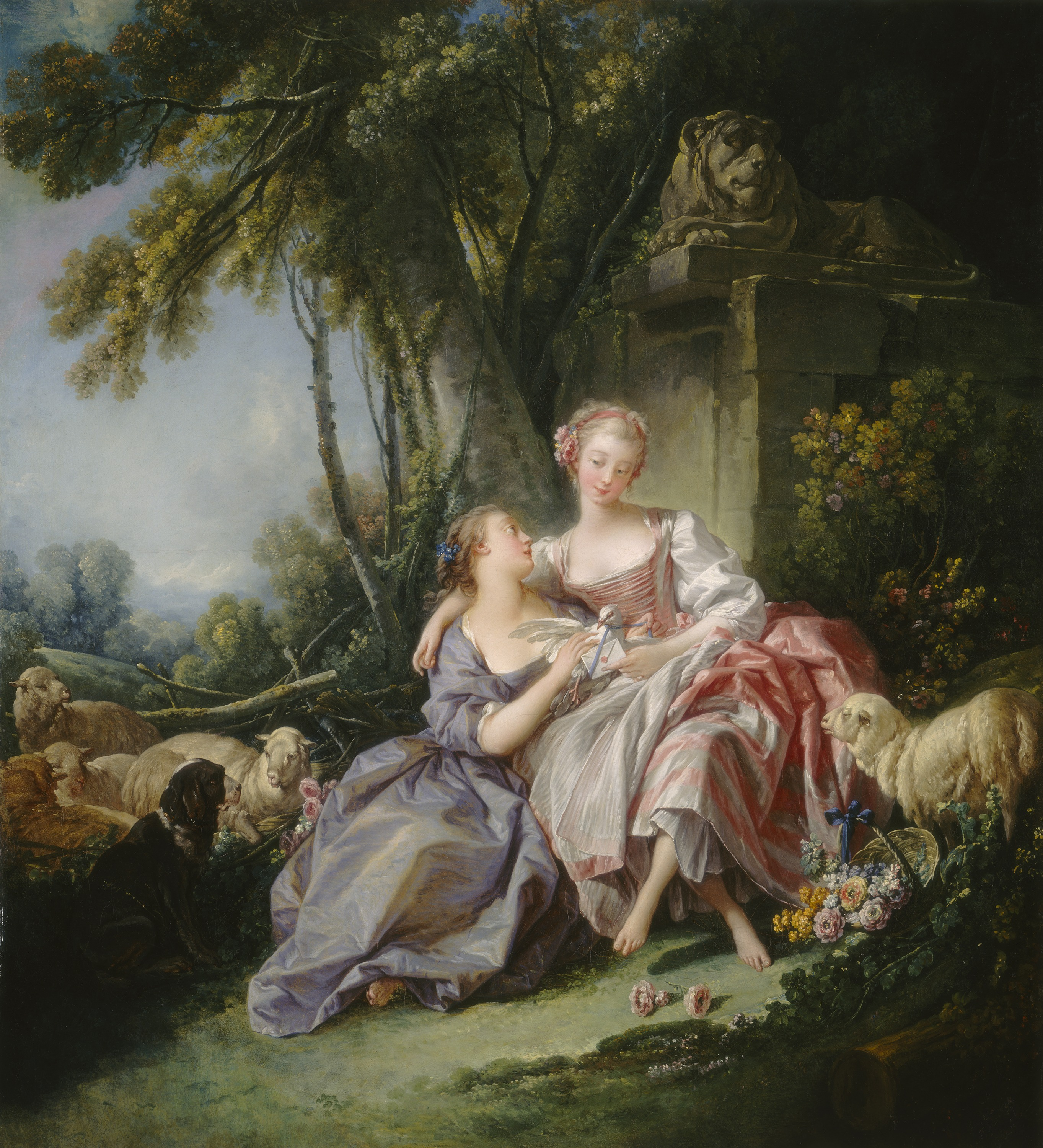 François Boucher whose skin tones and dream like gardens infuriated Diderot.