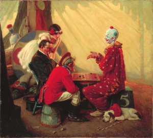 Norman Rockwell's 'Checkers'