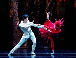 "Misty Copeland and Herman Cornejo in ""Firebird."" Credit: Gene Schiavone"
