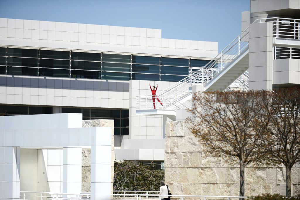 """Roof Piece"" at the Getty. photo: Roger Wong"