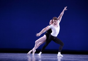 "Ulrik Birkkjær and Allynne Noelle in Balanchine's ""Agon."" Photo: Reed Hutchinson"
