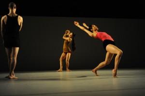 "Batsheva Dancers in Ohad Naharin's ""Sadeh21."" Photo: Gadi Dagon"