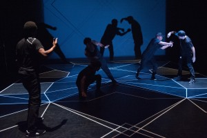 "The cast of ""Opposing Forces,"" choreographed in conjunction with the dancers by Amy O'Neal.  Photo: Bruce Clayton Tom."