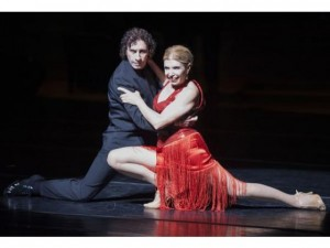 "Nestor Gude and Lucia Alonso in Tango Buenos Aires' ""Song of Eva Peron."" Photo: Kevin Sullivan, Orange County Register"
