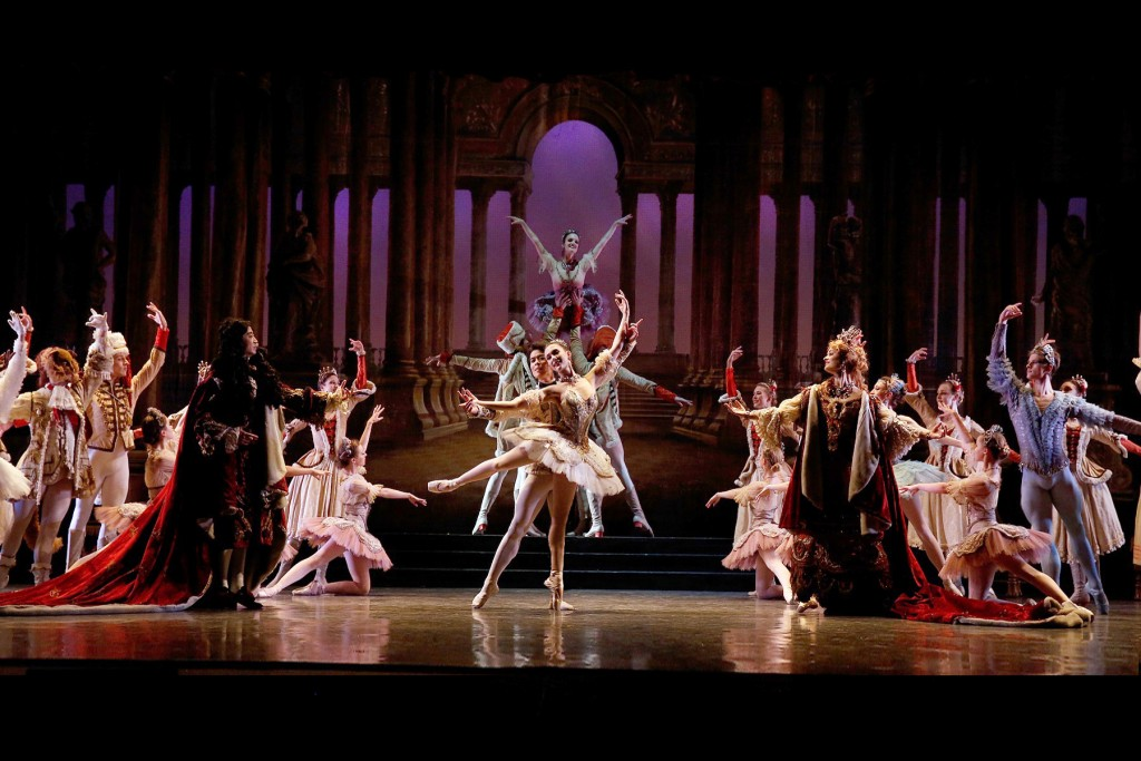 "Los Angeles Ballet in the crowning moment of ""The Sleeping Beauty."""