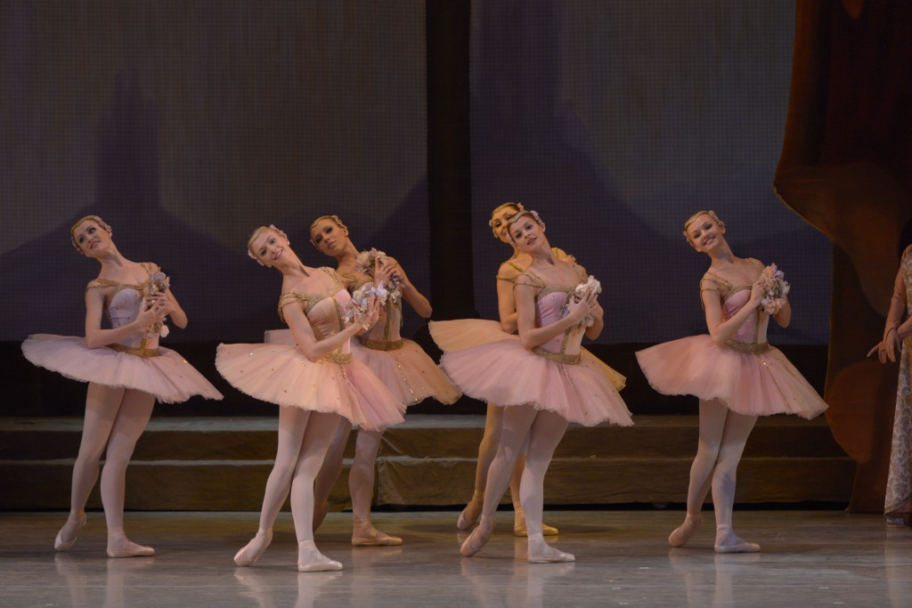 "Viktoria Tereshkina in the U.S. debut of the Mariinsky's complete ""Raymonda."" Photo: Valentin Baranovsky"