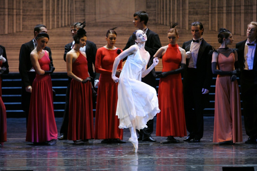 In a rare sprightly moment, Diana Vishneva plays Cinderella at the ball. Photo: N. Razina