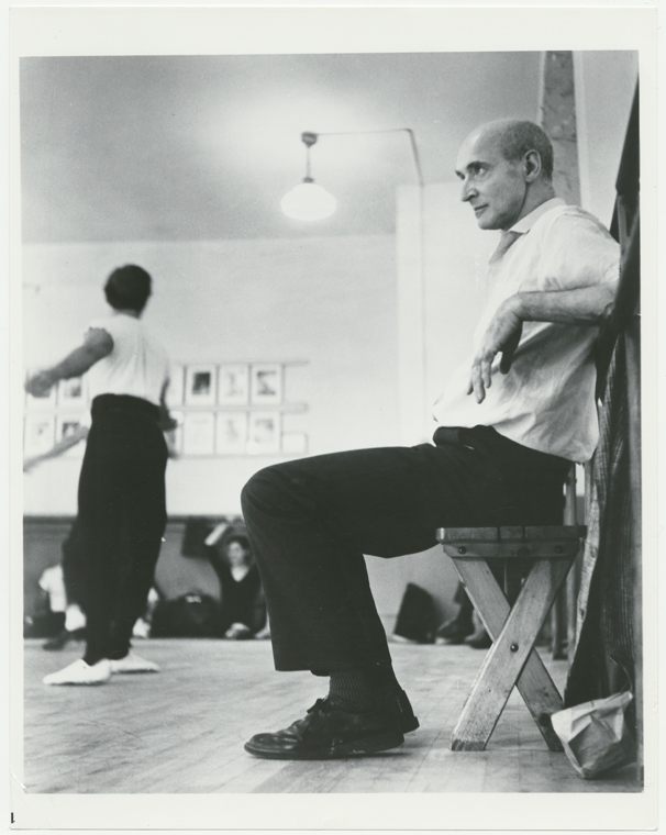 Tudor in rehearsal at New York City Ballet. From the digital collection of the NY Public Library.