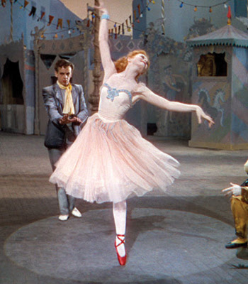 "Moira Shearer in Michael Powell and Emeric Pressburger's 1948 film of ""The Red Shoes."""