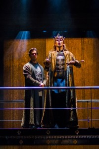 Oliver Rix (left) and David Tennant in Richard II Photo: Kwame Lestrade