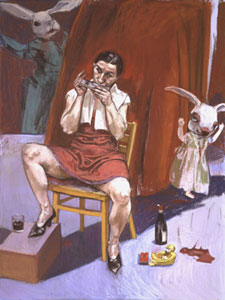 Playing the Harmonica by Paula Rego (Marlborough Fine Art)