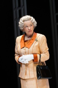 Marion Bailey in Handbagged. Photo: Hugo Glendinning