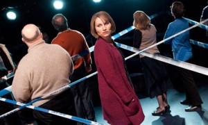 Kate Fleetwood in London Road on stage. Photo: Tristram Kenton/Guardian