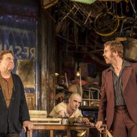 John Goodman (Don), Tom Sturridge (Bob) and Damian Lewis (Teach) in American Buffalo at Wyndham's Theatre. Photograph: Johan Persson