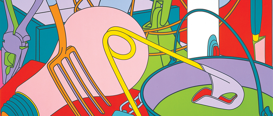 "Michael Craig-Martin, ""Eye of the Storm,"" 2002 (detail)"