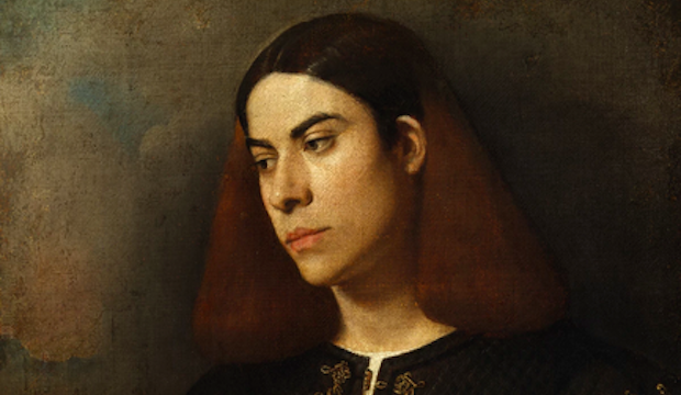 "Definitely a Giorgione, says the current exhibition. ""Antonio Brocardo?"" from the Szépmüvészti Múzeum, Budapest"