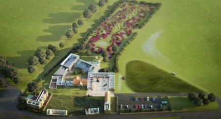 Hauser & Wirth Somerset Artists impression, Aerial View