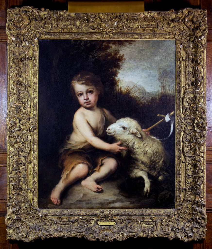 St. John with the Lamb by Bartolome Esteban Murillo