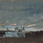 Arthur Bowen Davies +Chateau Langeais - Touraine +c1924 +Princeton University Art Museum
