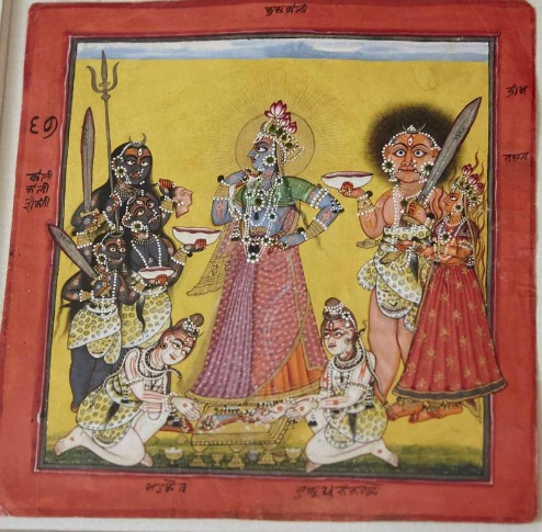 The Devi, in the Form of Bhadrakali, Adored by the Gods'