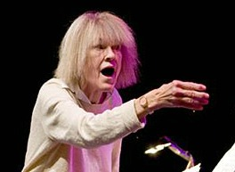Carla Bley conducting