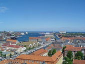 Copenhagen Harbor from Our Savior Church
