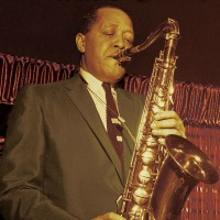 Lester Young facing right