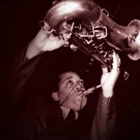 Lester Young sepia tone