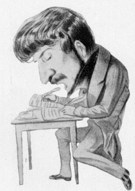 A caricature of Donizetti